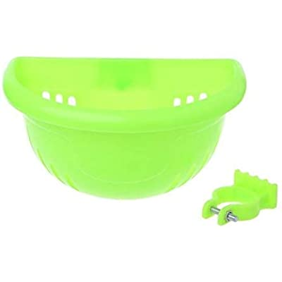 scooter Bicycle Basket Children Kid Bike Plastic Front Handlebar Bag Accessories (Green) : Sports & Outdoors