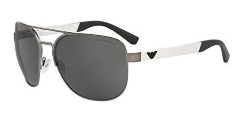 Emporio Armani 0EA2064 Gafas de sol, Matte Gunmetal, 62 para ...