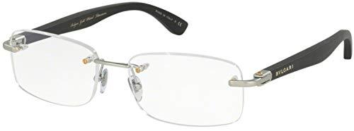 Bvlgari BV1086TK Silver/Clear Lens Eyeglasses ()