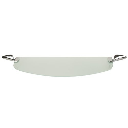 Triton Metlex Eclipse Bathroom Frosted Glass Shelf - Chrome by -