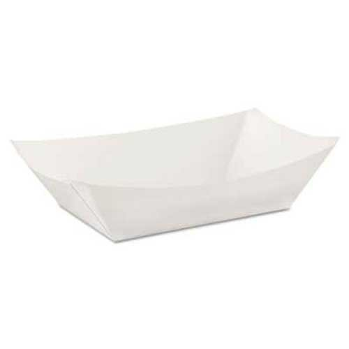 Dixie Kant Leek Polycoated Paper Food Tray, 3 Pound, White, 250/Pack (Dixie Kant Leek)
