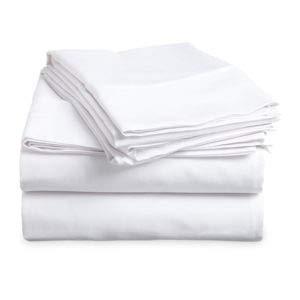 THOMAS LEE Pima Cotton Luxury King Sheet Set in White (Pima Sheets Cotton)