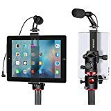 Neewer iPad Tablet Tripod Mount Adapter Holder - 6.3-9.25 inches 16-23.5 centimeters Adjustable Clamp for iPad Mini iPad 2 3 4 - iPad Air Air2 - iPad Pro Microsoft Surface Samsung Tab 7.0 Series