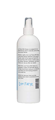 Lice Fairyz Preventive Mint Spray Naturally and Safely Repels Head Lice with 100% Natural Essential Oil. Effective Against Super Lice. Use Before or After Lice Treatment. Non-Toxic. No Pesticides. by Lice Fairyz (Image #1)