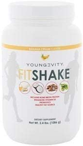 Youngevity FitShake - Banana Cream (2.4 lbs) with Fermented Vitamin D