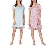 Jane and Bleecker Ladies' Henley Sleepshirt, 2 Pack (XL, Pink/Lt Blue)