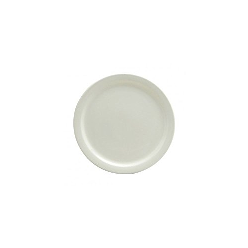 Buffalo Cream White Narrow Rim Plate, 6 1/2 inch - 36 per case.