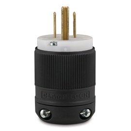 Marinco 8215 NEMA Hospital-Grade Power Plug 15A 125V Black