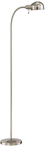 Ridley Satin Nickel Gooseneck Floor Lamp