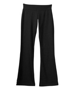 DCS Cotton Spandex Full Length Dance Workout Pant (Large, Black)