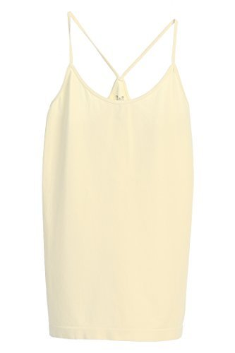 Kurve Spaghetti Strap Racerback Camisole Women's One Size Fits Most, Cream