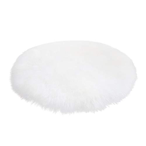 US Warehouse - Soft Artificial Sheepskin Rug Chair Cover Wool Warm Hairy Carpet Seat Blanket Floor Textil Fur Area Rug Living Room Mats - (Color: White, Size: 60x60CM) from DAVITU