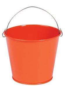 (Mini Orange Pails with Handles (12 Pack) Metal. - Party Decorations & Pails & Baskets)