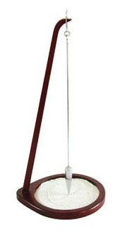- Pit and Sand Pendulum in Rich Mahogany Finish - 22 inch Tall