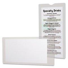 * Utili-Jacs Heavy-Duty Clear Plastic Envelopes, 4 x 9, 50/Box