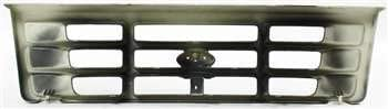 Grille Assembly Compatible with 1992-1997 Ford F-150 Plastic Painted Gray Shell and Insert