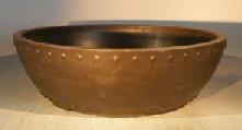 Brown Mica Bonsai Pot - Round 14 by 5 (Mica Pot Bonsai)