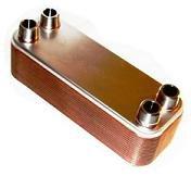 30-plate Brazed Heat Exchanger - 3/4'' Female NPT Connections by Brazetek