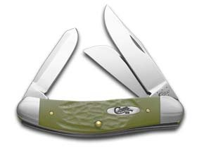 Case Rough Olive Green Synthetic Sowbelly Pocket Knife