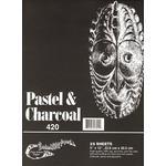 Borden & Riley Pastel & Charcoal Paper- Black 12x18 Pad
