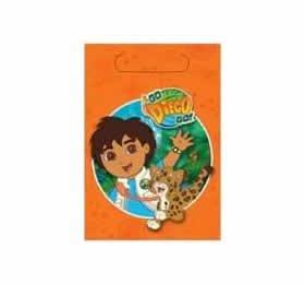 Go, Diego, Go! Plastic Treat Bags, 8ct -