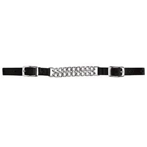 Weaver Nylon Curb Strap w/Double Flat Link Chain