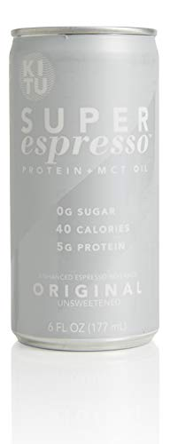 Kitu by SUNNIVA Original Super Espresso with Protein and MCT Oil, Keto Approved, 0g Sugar, 5g Protein, 40 Calories, 6 fl. oz, Pack of 12 by SUNNIVA SUPER COFFEE (Image #1)