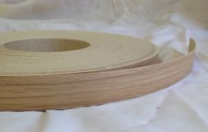10 metres Pre Glued Iron on Melamine Classic Oak Edging Tape 22mm wide Various Lengths .Free Postage