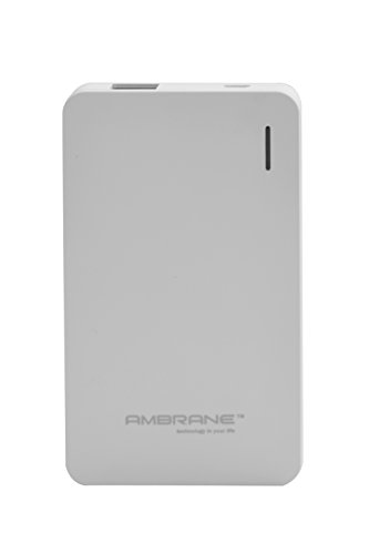 Ambrane Plush PP-40 4000mAH Polymer Power Bank (White)