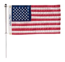 Taylor Made Products 916 Aluminum Boat 3/4-Inch Flag Pole With Charlevoix Clips (24-Inch) ()