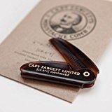 CAPTAIN FAWCETT Folding Pocket Moustache Comb 117mm