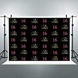 Riyidecor Sweet Sixteen 16 Backdrop Birthday Girl's 16th Black Pink Princess Girl Boy Photography Background 7x5ft Teenage Decoration Celebration Props Party Photo Shoot Backdrop Blush Vinyl Cloth