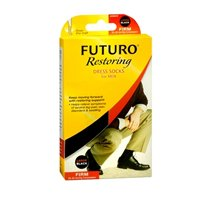 (FUTURO Lifestyle Compression Dress Socks For Men Firm Large Black 1 Pair (Pack of)