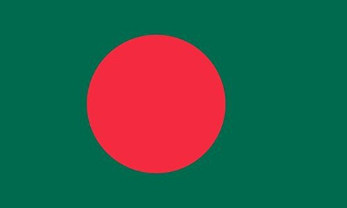 Bangladesh Flag 5ft x 3ft Large - 100% Polyester - Metal Eyelets - Double Stitched ()