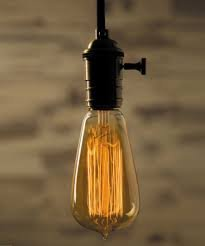 4 Pack Sale - Old Fashion Edison Light Bulbs - Five Star Rated - 60W Vintage Squirrel Cage Filament - 120 Volts - 230 Lumens - ST58 Teardrop - Dimmable Antique Amber Lighting - Warranty Included by Moonrock & Co. (Image #3)
