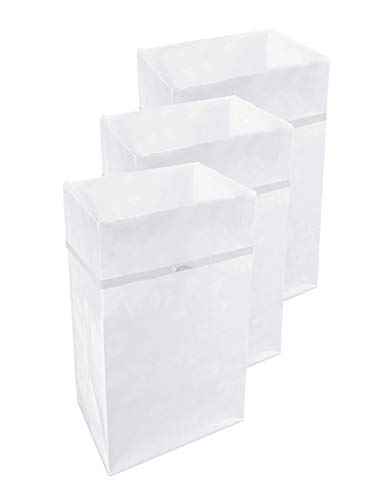 Clean Cubes 30 Gallon Disposable Trash Cans & Recycling Bins, 3 Pack (White Pattern)