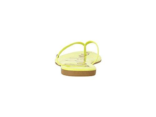 Edelman Sam Oliver Mules Neon Patent Citron Femme d6gq6