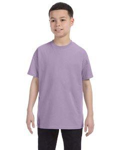 (Hanes 54500 Youth Tagless T-Shirt - Lavender - M )
