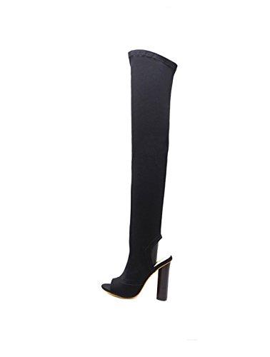 Heels Women Wedding Bridal Wheeler Strappy Queena Shoes Black Toe High Sandals Open Stiletto Party Cross 0HqW5wpS