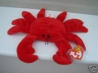 - TY Beanie Baby - DIGGER the Crab (Red Version - 4th Gen hang tag) by Ty