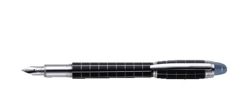 Montblanc StarWalker Metal Rubber Fountain Pen Medium nib, 08854M (Blanc Mont Starwalker Metal)