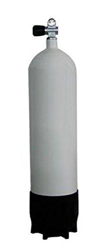 Polaris Pressluftflasche 15 L + Monoventil + Fuß / Tauchflasche [Misc.]