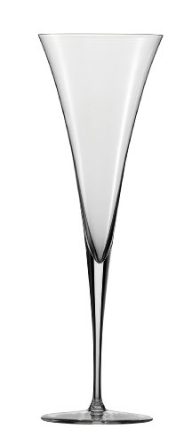 Zwiesel 1872 Enoteca Collection Handmade Toasting Flute Glass with Effervescence Points, 8.3-Ounce, Set of 2 (Love True Flute)