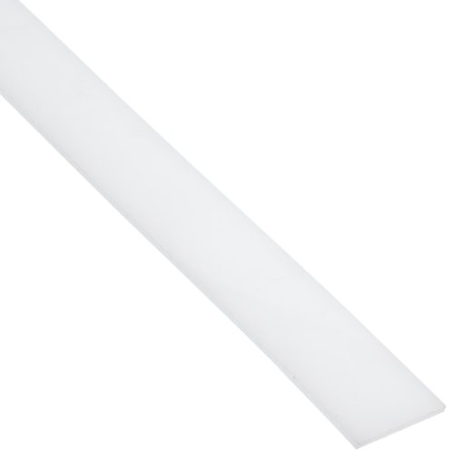 LDPE (Low Density Polyethylene) Rectangular Bar, Opaque Off-White, Standard Tolerance, 1/8'' Thickness, 1-1/2'' Width, 4' Length by Small Parts