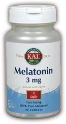 3 Mg 30 Tabs (Melatonin 3mg Kal 30 Tabs by Kal)