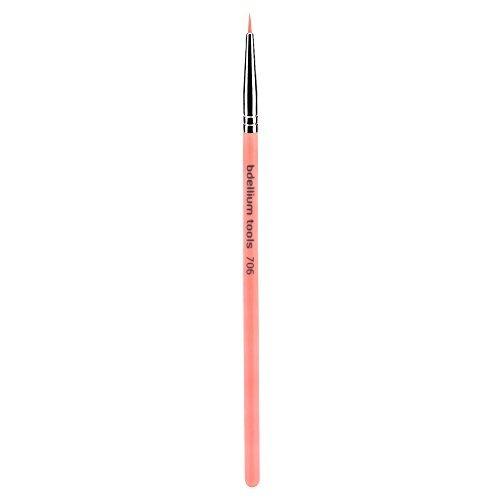 706 Series (Bdellium Tools Professional Eco-Friendly Makeup Brush Pink Bambu Series - Fine Point Eyeliner 706 by Bdellium Tools)