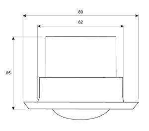 Detector de Movimiento empotrable para Techo 360 °, MAX. 6 M, Color Blanco, IP20 (para Interiores) [LX41 Blanco]: Amazon.es: Bricolaje y herramientas