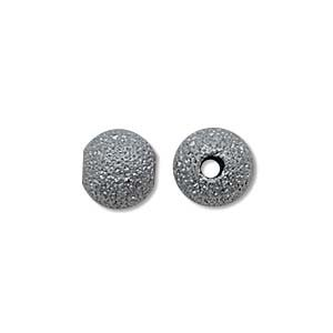- Beadaholique Stardust Sparkle Round Beads, 6mm, Gunmetal Plated