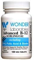 La vitamine B12 par voie sublinguale (1000 mcg), B6 (5mg), acide folique (400 mcg) et la biotine (25mcg) - 100 comprimés sublinguaux - Formulé avec méthylcobalamine vitamine B-12.