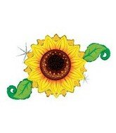 Linky Yellow Sunflower Shaped 46 Mylar Balloon